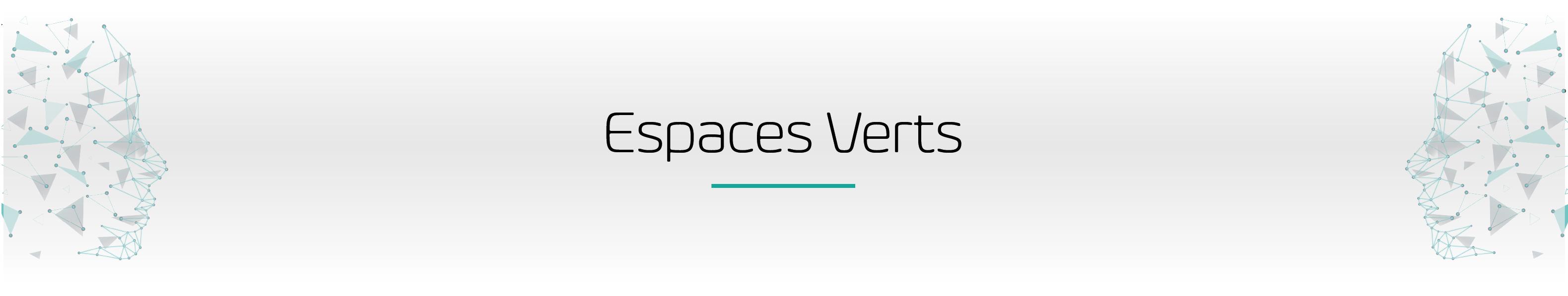 """Bandeau de la page """"Espaces Verts"""""""
