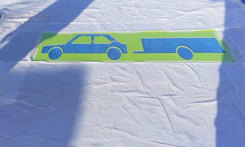 Photo de pochoirs pour peinture au sol